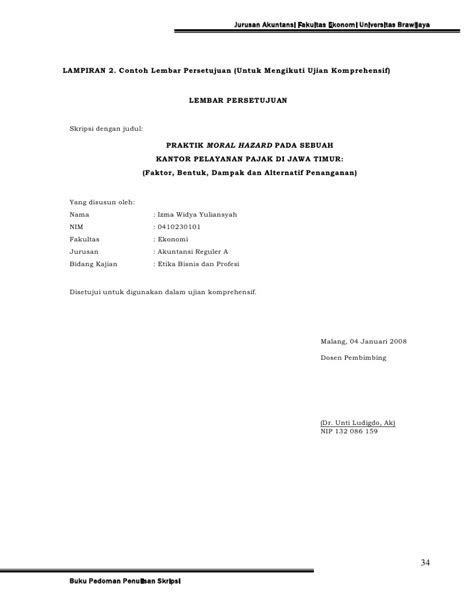 skripsi fakultas akuntansi pedoman skripsi jur akuntansi
