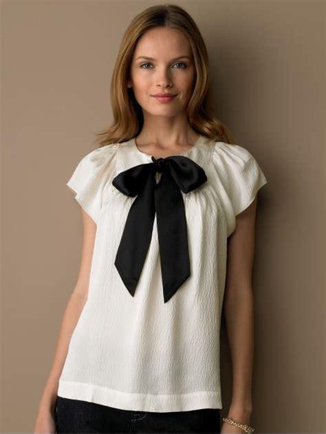 Blouse Tali Ribon Bordier White stylish blouses for aelida
