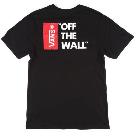Tees Vans The Wall Tshirt Vans vans the wall ii t shirt black