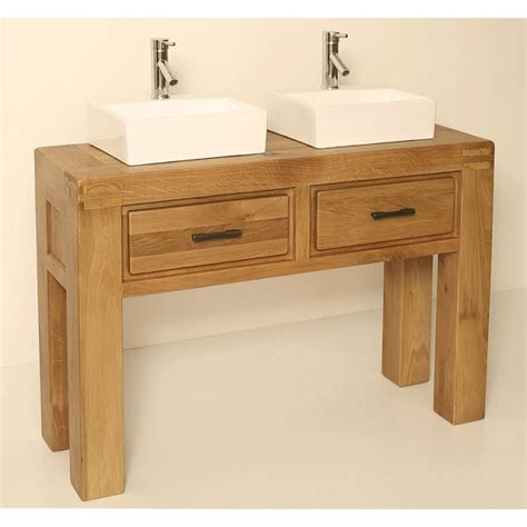 Free Standing Oak Bathroom Furniture Milan Oak Free Standing Bathroom Vanity Unit Best Price Guarantee