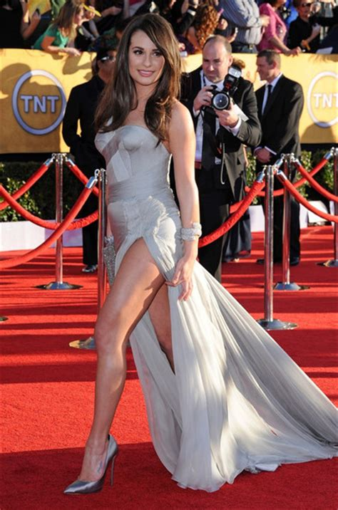 On The Carpet At The Sag Awardsmmm Mmm lea michele needs our jackinchat free