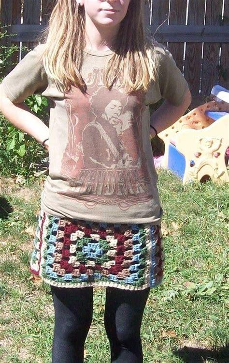 Mini Skirt Square square crochet mini skirt crocheted clothing
