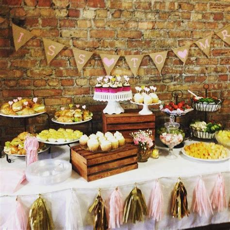 vintage shabby chic bridal wedding shower party ideas