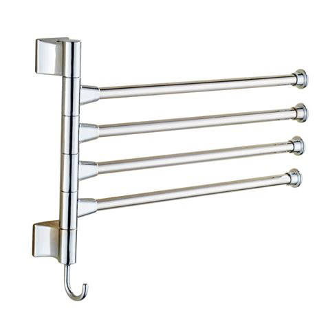 bathroom towel hanger stainless steel 4 arm bar bathroom towel swivel wall rack