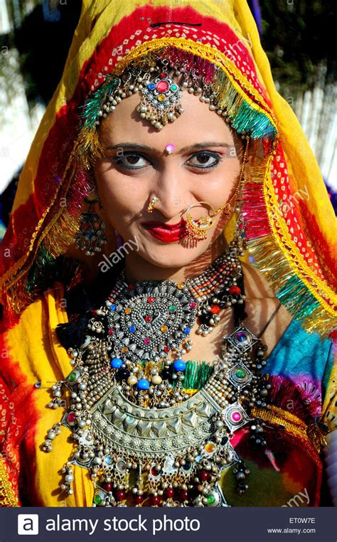 Woman wearing rajasthani traditional jewellery and costume