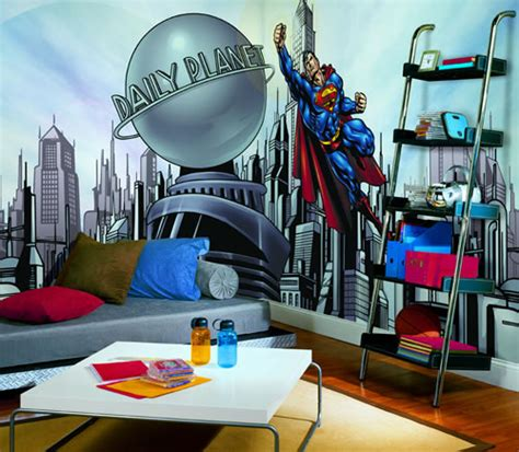 superman wall mural superman cityscape yh1477m wall mural