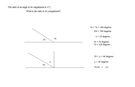 supplement and complement angles math plane angles properties