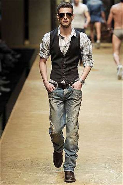 Well Vested Mandy Couture In The City Fashion by Tux Vested Denim 2010 Menswear Blends Cowboy And