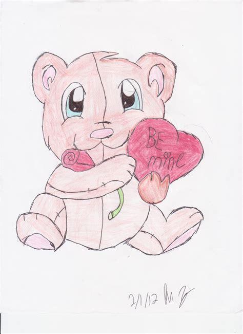 valentines teddy drawing be mine teddy by majinsammy on deviantart