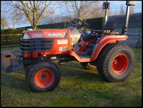 Kubota B2100 Specifications Attachments