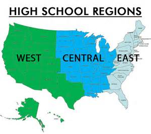 us map divided into 3 regions studentcam competition