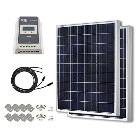 best solar panel deals hqst 200 watt 12 volt polycrystalline solar panel kit with 40a mppt charge controller home and