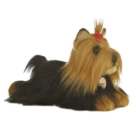 stuffed yorkie realistic stuffed terrier 11 inch plush by