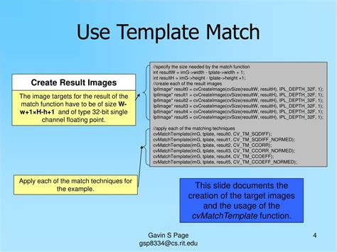 Ppt Opencv Tutorial Powerpoint Presentation Id 457562 How To Make A Matching On Powerpoint