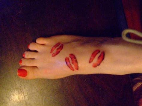 lips tattoo on foot dog foot prints tattoo