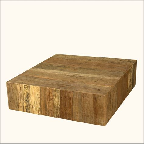 Railroad Tie Coffee Table Rustic Railroad Ties Reclaimed Wood Square Sofa Cocktail Coffee Table Furniture Ebay