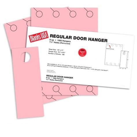 blanks usa templates pink regular door hangers 13 x 17 in 67 lb bristol