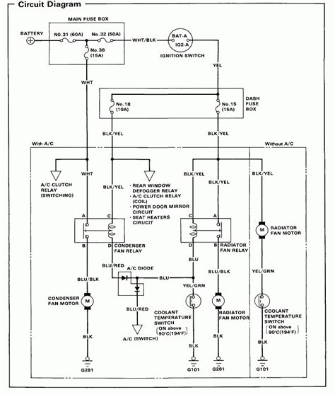 1990 honda accord wiring diagrams wiring diagram with