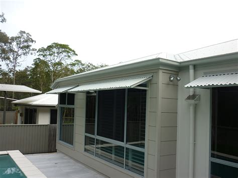colorbond awnings colorbond welded full frame awnings caloundra awnings