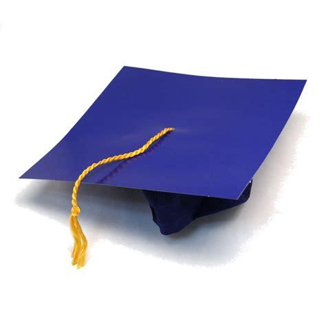 graduation cap blue cardboard graduation caps