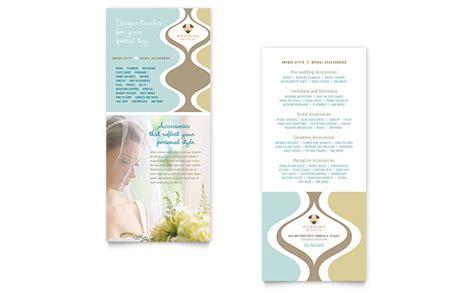 free template for 4x9 rack card wedding store supplies rack card template design