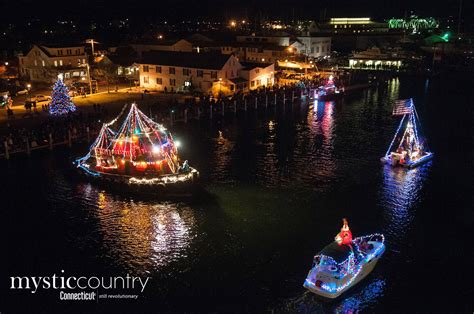 lighted boat parade holiday lighted boat parade 2017 in mystic ct