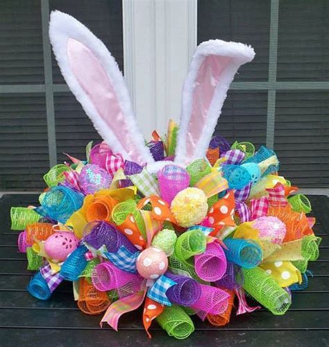 easter centerpiece ideas easter centerpiece centerpieces eggs and mesh ribbon