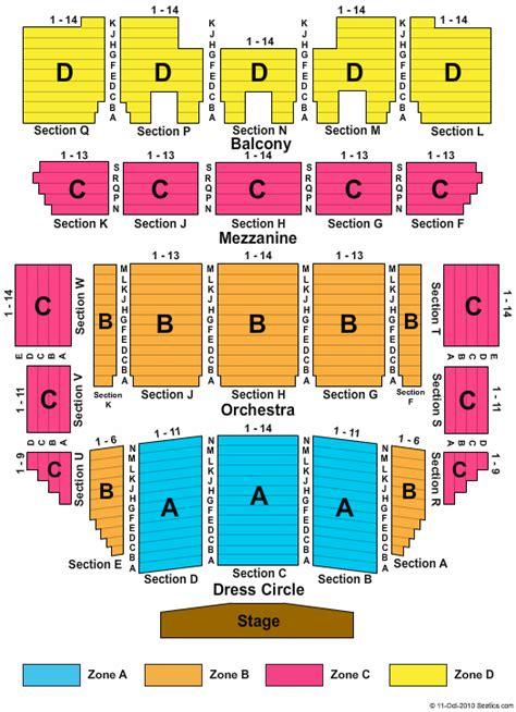 progress energy center seating chart duke energy center for the performing arts raleigh