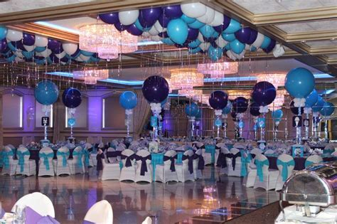 Purple & Turquoise Bat Mitzvah with Alternating Solid