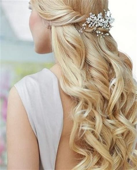 Wedding Hair Half Up Accessories by Trubridal Wedding 15 Half Up Half