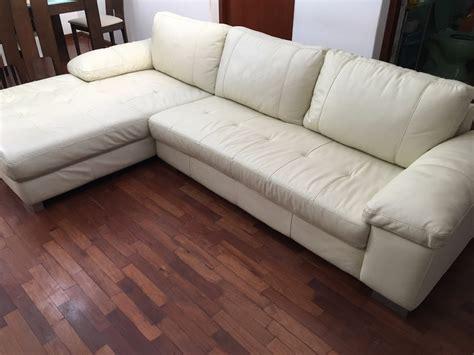 mueble seccional mueble seccional cuero color beige marca basement perf