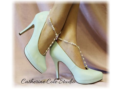 Shewelry Jewelry For Your Shoes by Sea Of Pearl Barefoot Sandals 1 Pr Bridal Wedding
