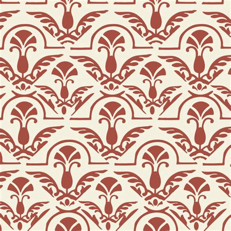 red damask wallpaper home decor burnt red orange and cream damask large scale home decor