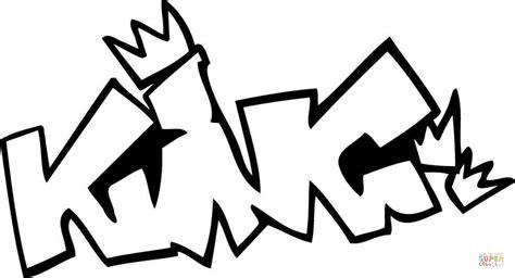 King Graffiti Coloring Page Free Printable Coloring Pages King Printable Coloring Pages