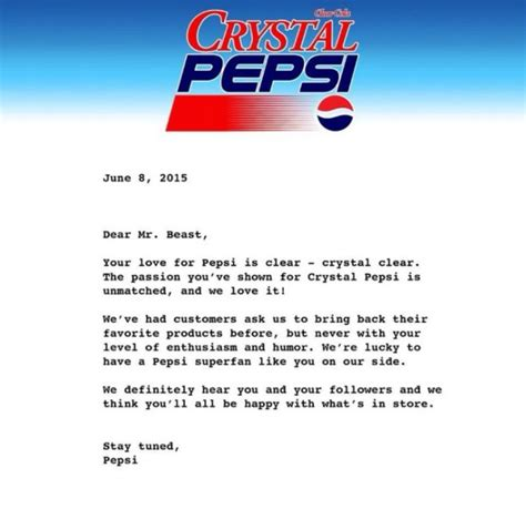 Demand Letter Precedent Pepsi S Next Generation The Last Generation Duetsblog