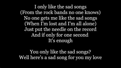 song sad the maine sad songs lyrics