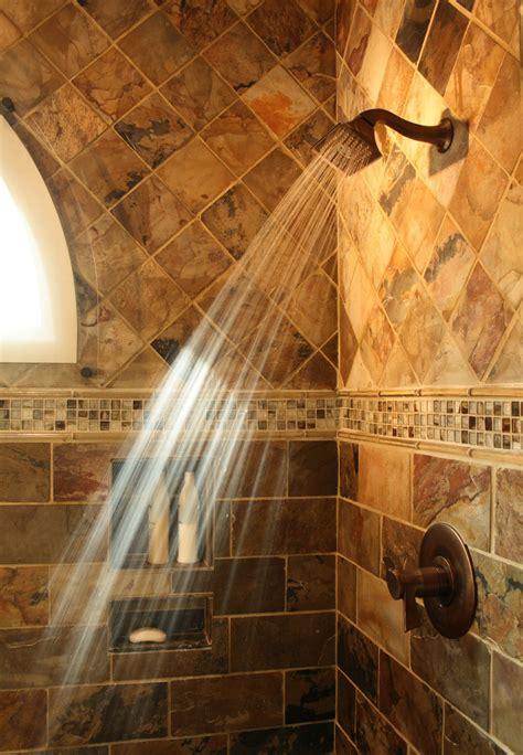 slate tile bathroom shower slate shower tile bathroom rustic with bow front vanity