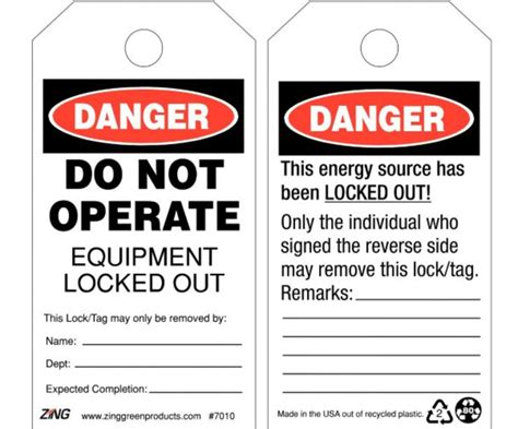 construction supplies lockout tagout tags 10 per package lotag11