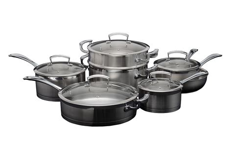 shaffer berry stainless steel induction pot set 12