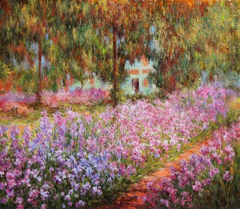 claude monet garten claude monet the artist s garden at giverny on canvas