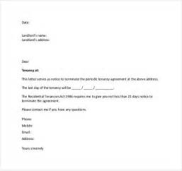 Certified Letter From Tenant Notice Of Termination Of Month To Month Tenancy Eviction Notice Template Word Image Result For