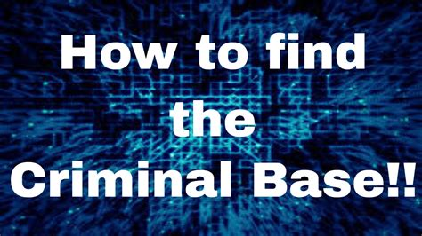 How To Find Out If I A Criminal Record Roblox Jailbreak Beta How To Find The Criminal Base