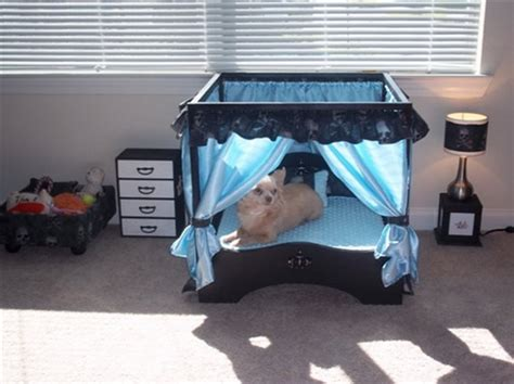 dog bedroom furniture doggie couture shop out of sight luxury canopy dog beds