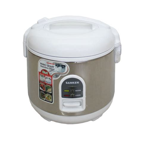 Rice Cooker Sanken Stainless Steel jual sanken sj 160 stainless steel inner pot rice cooker