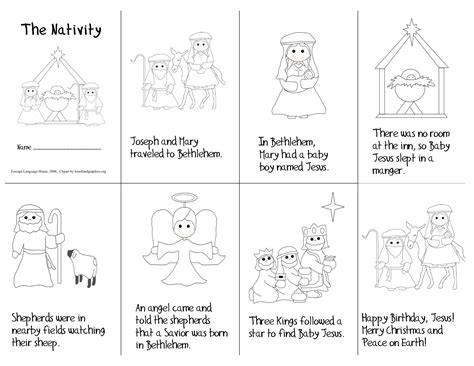 printable picture book mini book nativity printable merry happy new