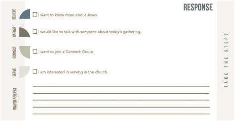 church information card