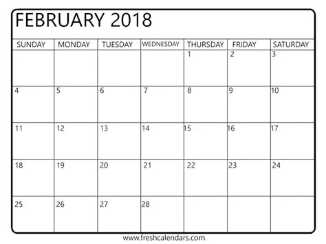 printable monthly calendar that i can type in february 2018 printable calendar templates