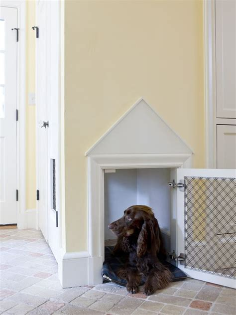 built in dog house stylish dog houses for pered pooches
