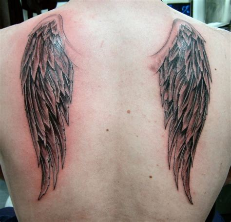 wing tattoos on back wings images designs