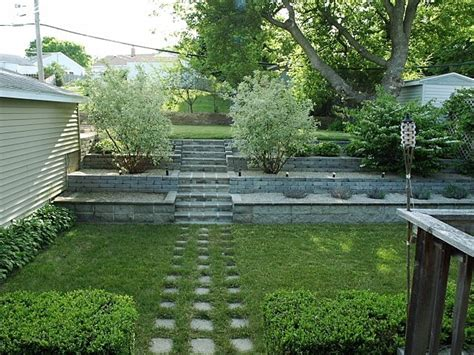 how to level a hilly backyard back yard landscaping joseph fieber